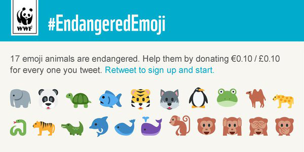 WWF's Endangered Animals Emoji Campaign