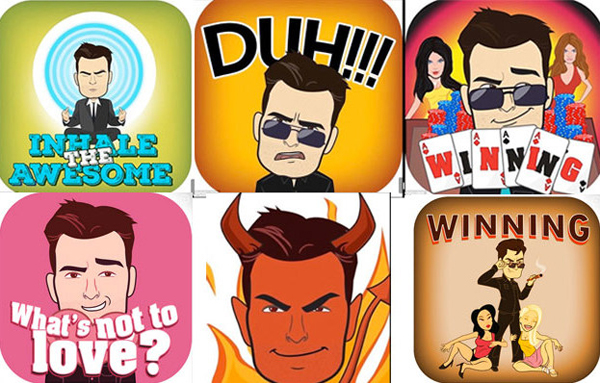 Charlie Sheen Released his Own Line of Personalized Emojis