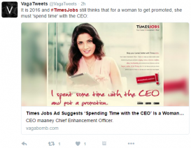Let's Be Less Stupid: Times Jobs' Latest CEO Advert Slammed on Social Media