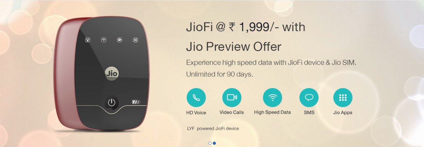 Jio Preview Offer on www.jio.com