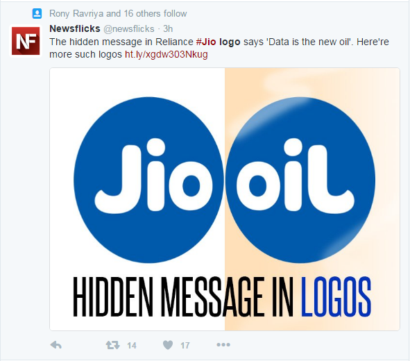 NewsFlicks takes to Twitter to reveal the speculated hidden message behind the logo